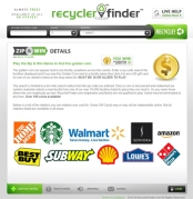 Play the Zip and Win Game at RecyclerFinder.com